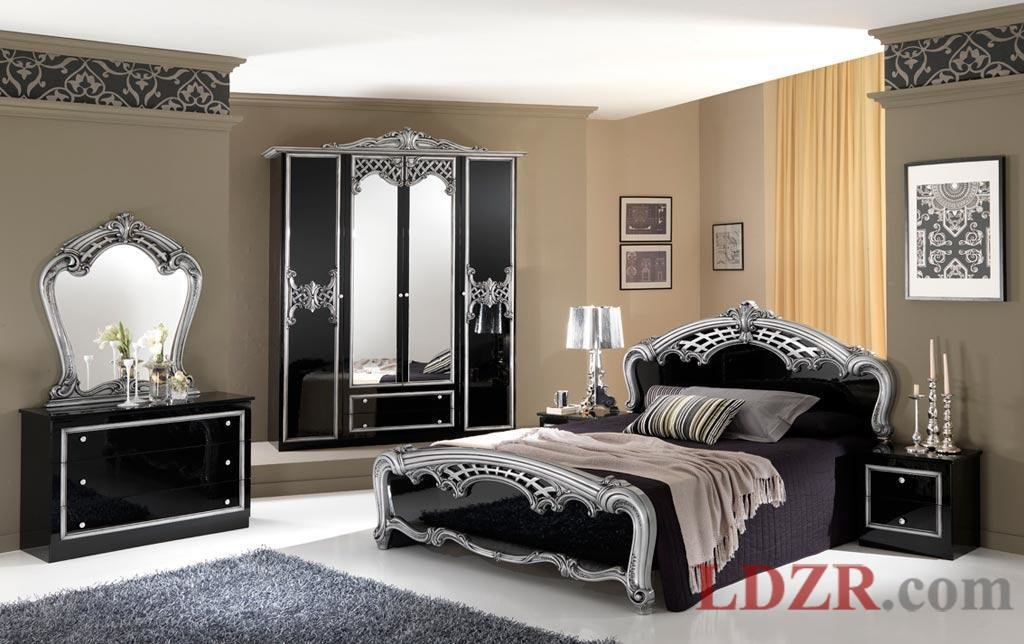 Best Black And Silver Bedroom Set 1 Cool Wallpaper With Pictures