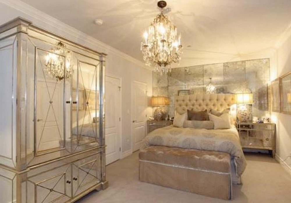 Best Gold Mirrored Bedroom Furniture Hawk Haven With Pictures