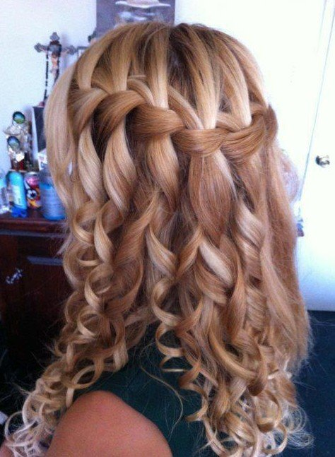 Free Beautiful Cascade Waterfall Braid Hairstyles Gallery Wallpaper