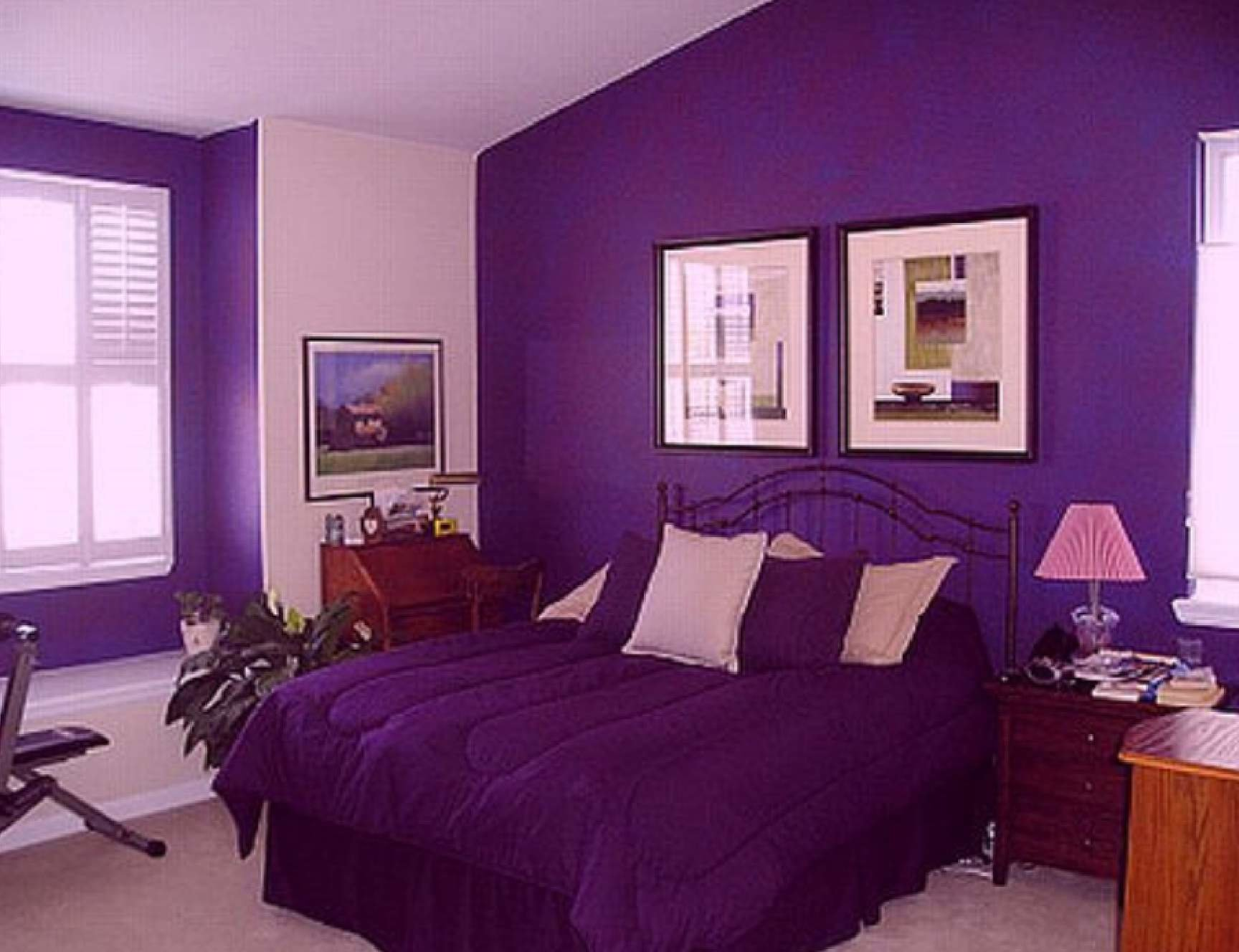 Best Yellow And Purple Bedroom Grey Surprising Walls Paint Room With Pictures