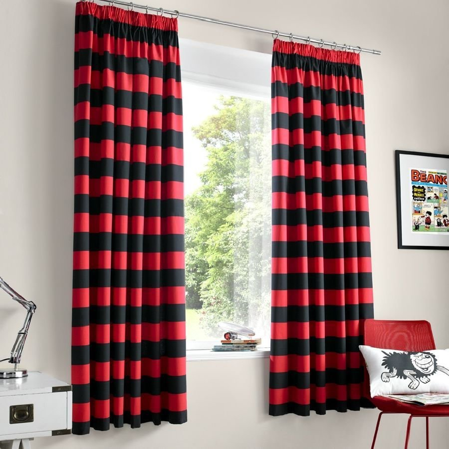 Best Red And Black Bedroom Curtains Decor Ideasdecor Ideas With Pictures