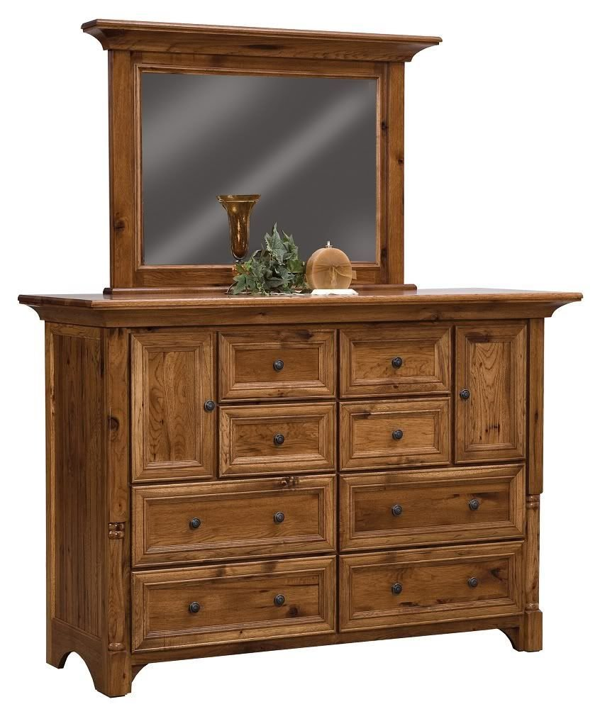 Best Luxury Amish Rustic Bedroom Set Solid Hickory Wood With Pictures