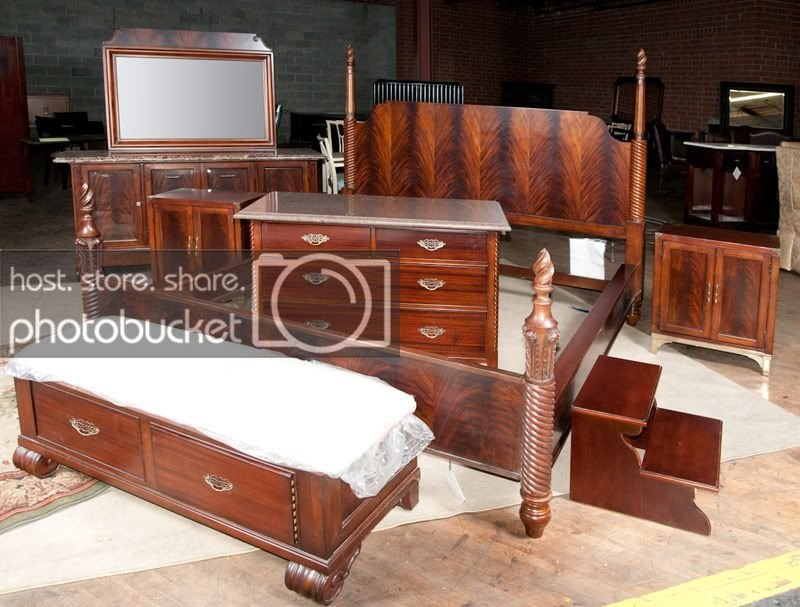 Best Thomasville Soliloque Mahogany King Bedroom Set Suite Ebay With Pictures