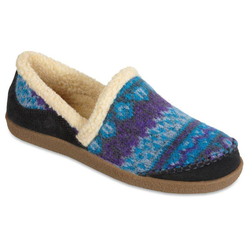 Best Acorn Womens Crosslander Moc Slippers Atlantic At Hayneedle With Pictures