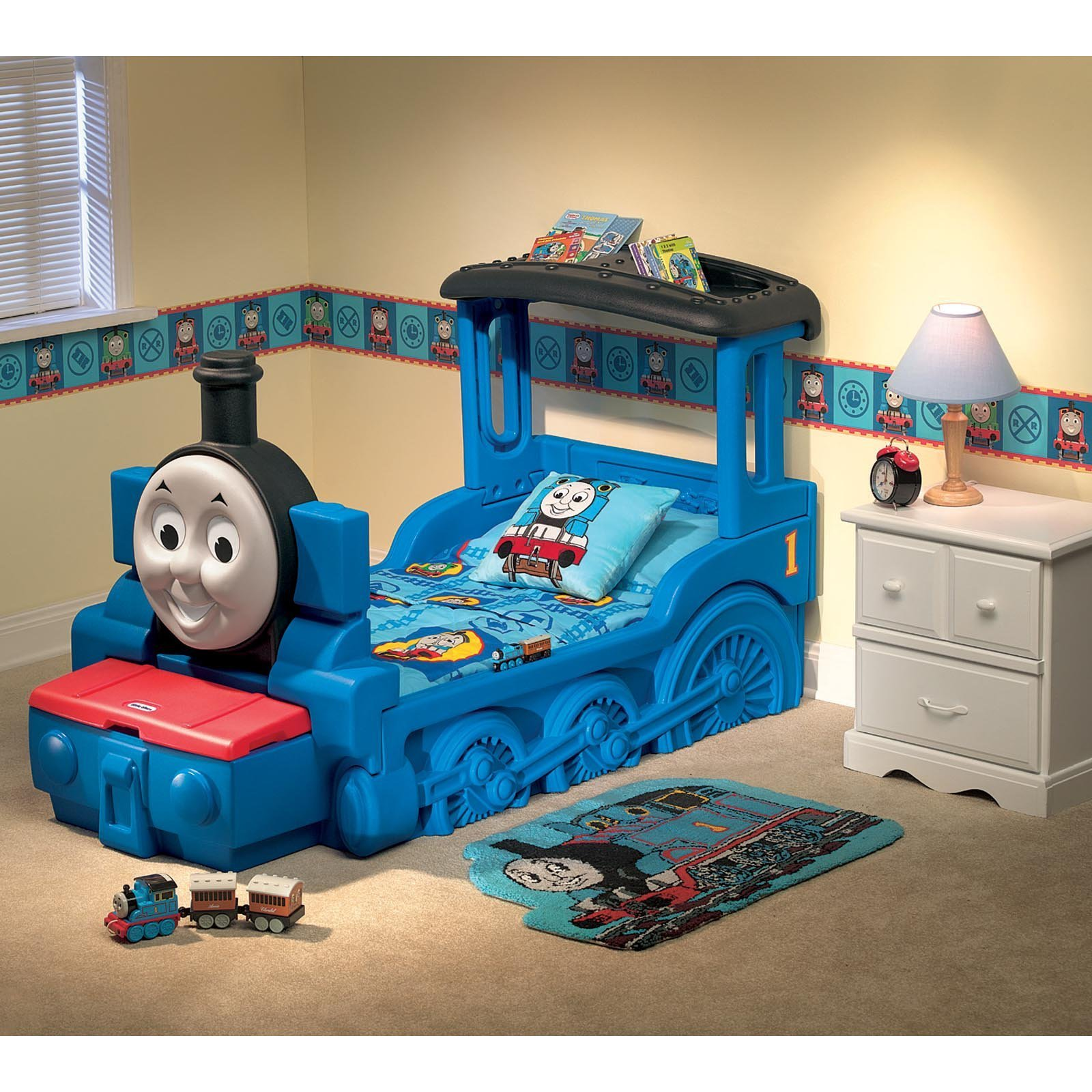 Best Thomas Friends Train Toddler Bed At Hayneedle With Pictures