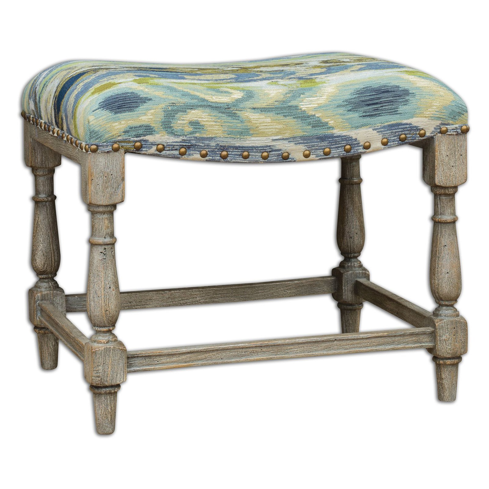 Best Uttermost Minkah Small Bench Bedroom Benches At Hayneedle With Pictures