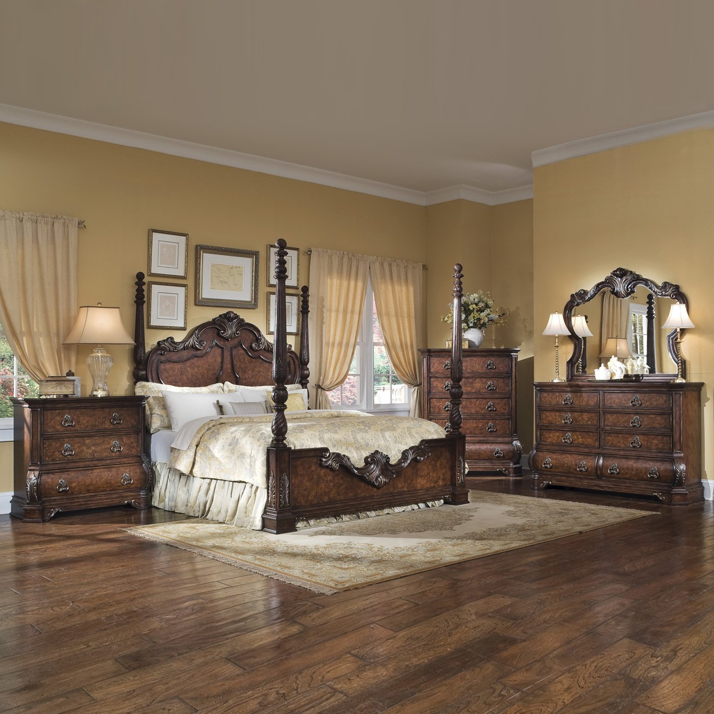 Best Pulaski Furniture Poster Bedroom Set Wellington Manor With Pictures
