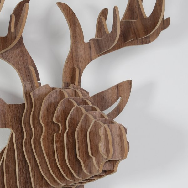 Best Wooden Trophy Animal Head Deer Affordable Gifts Price £49 Myhaus Com With Pictures
