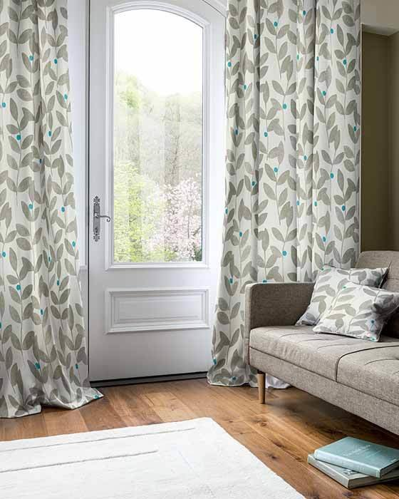 Best Teal Bedroom Floral Made To Measure Curtains With Pictures