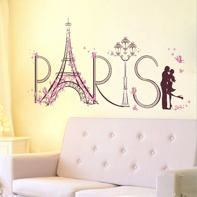 Best Diy Paris Eiffel Tower Wall Sticker Removable Home Decor With Pictures