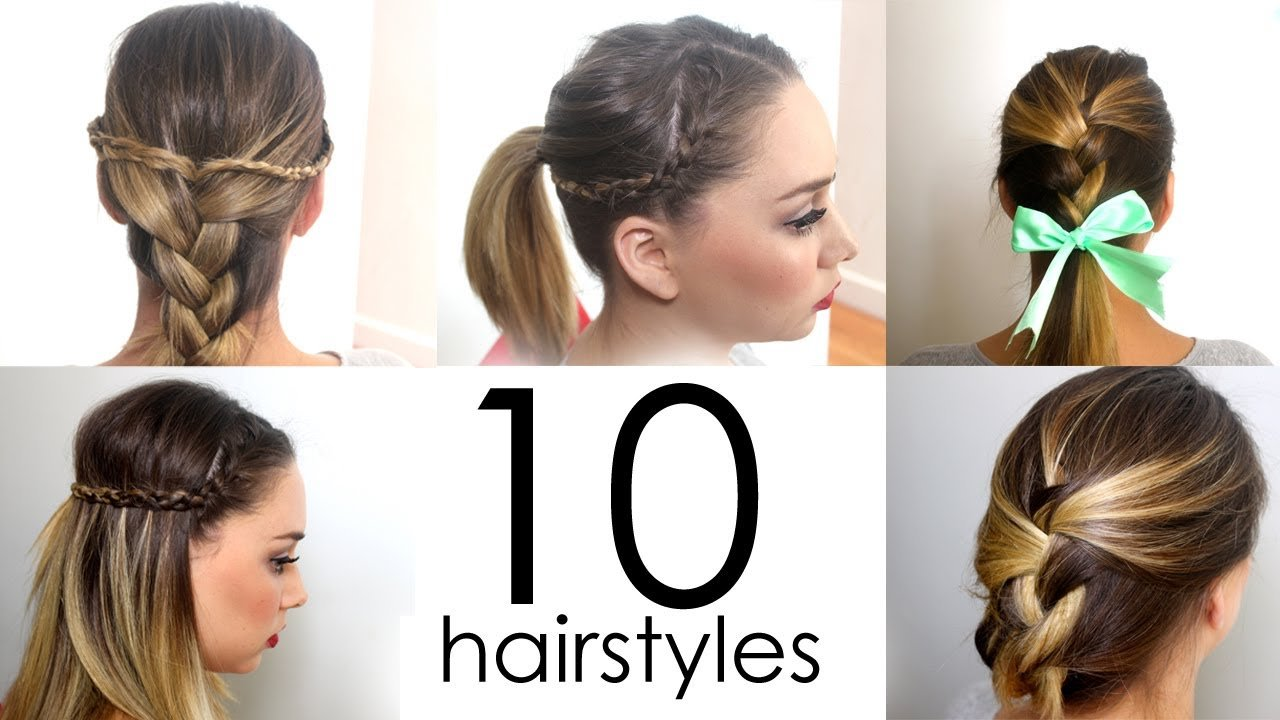 Free 10 Quick Easy Everyday Hairstyles In 5 Minutes Youtube Wallpaper