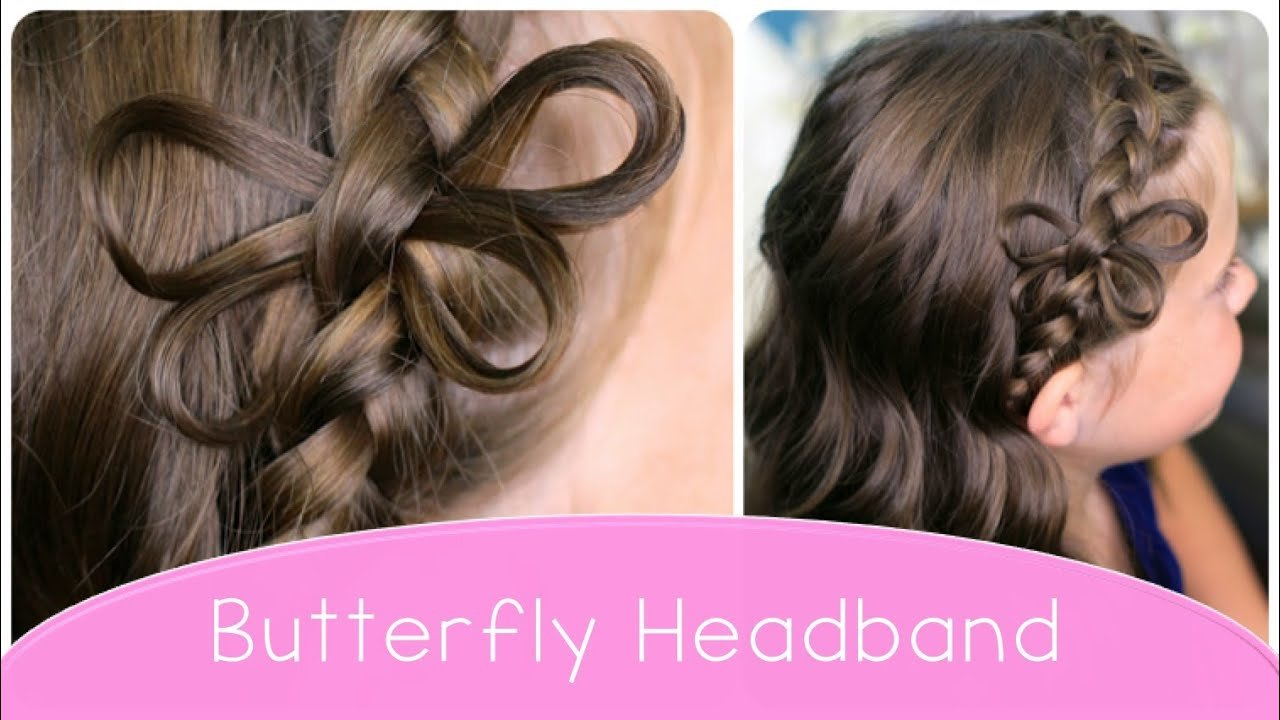 Free How To Make A Butterfly Braided Headband Cute Hairstyle Wallpaper