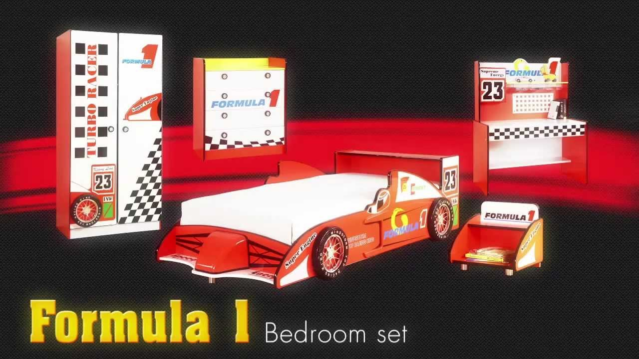 Best Formula 1 Racecar Theme Bedroom Furniture Set For Kids Childrens Car Bed From Little Devils With Pictures