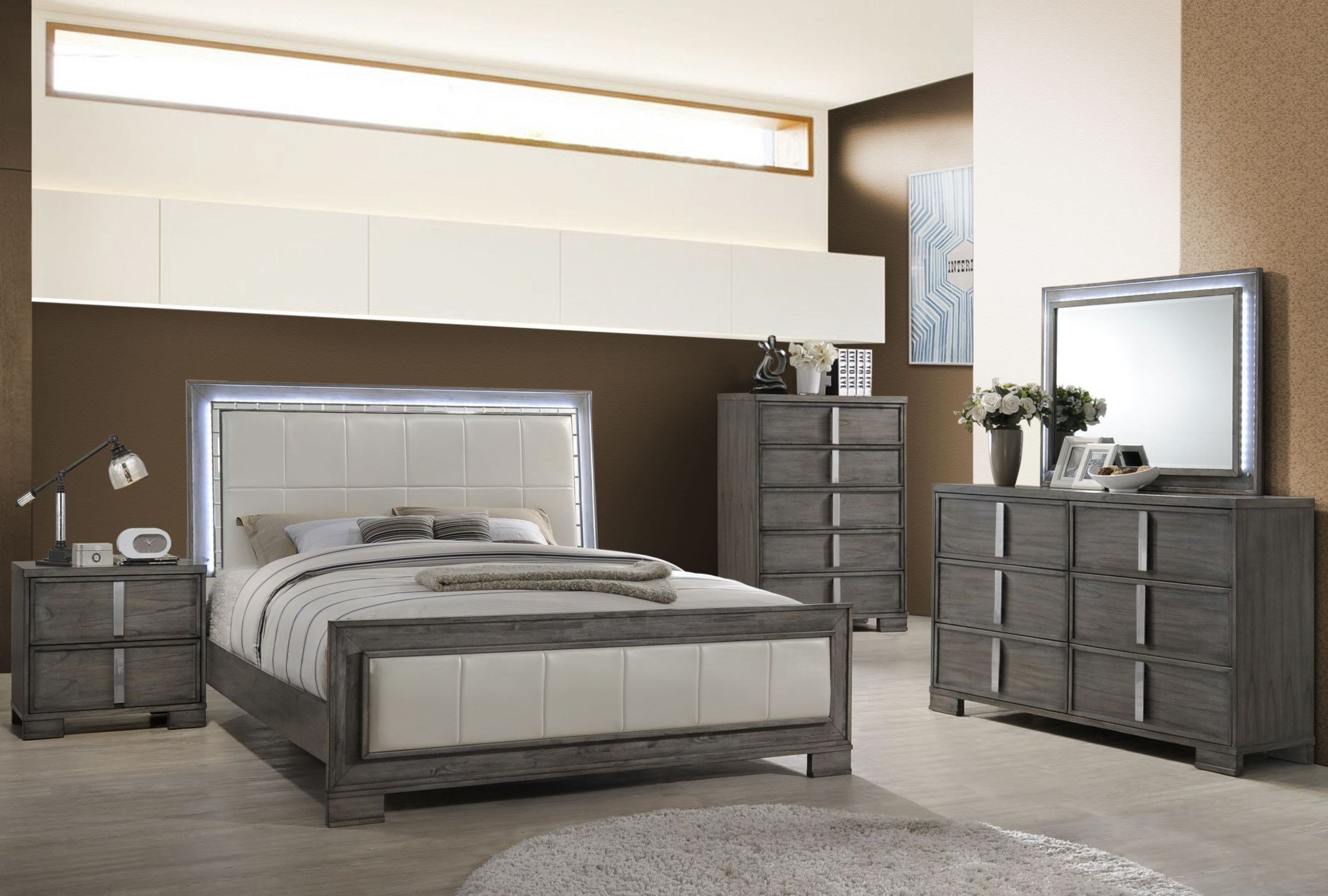 Best Edgewater Gray Panel Bedroom Set B9731 310 320 330 New With Pictures