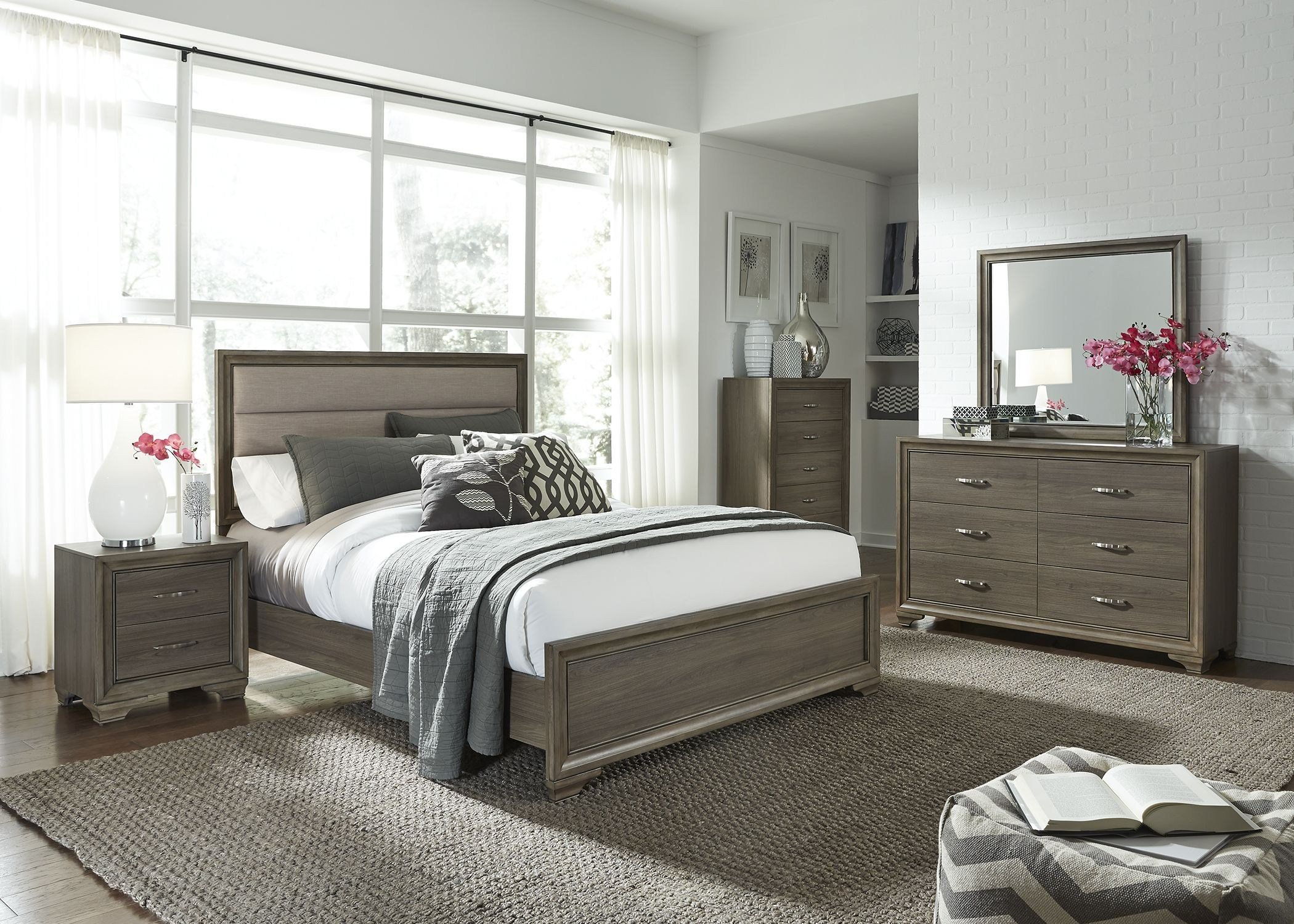 Best Hartly Gray Wash Youth Upholstered Panel Bedroom Set 283 With Pictures