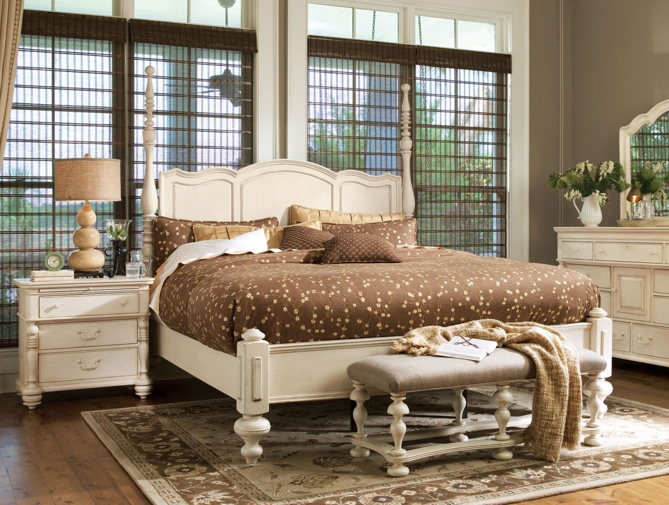 Best Paula Deen Home Linen Savannah Poster Bedroom Set From With Pictures
