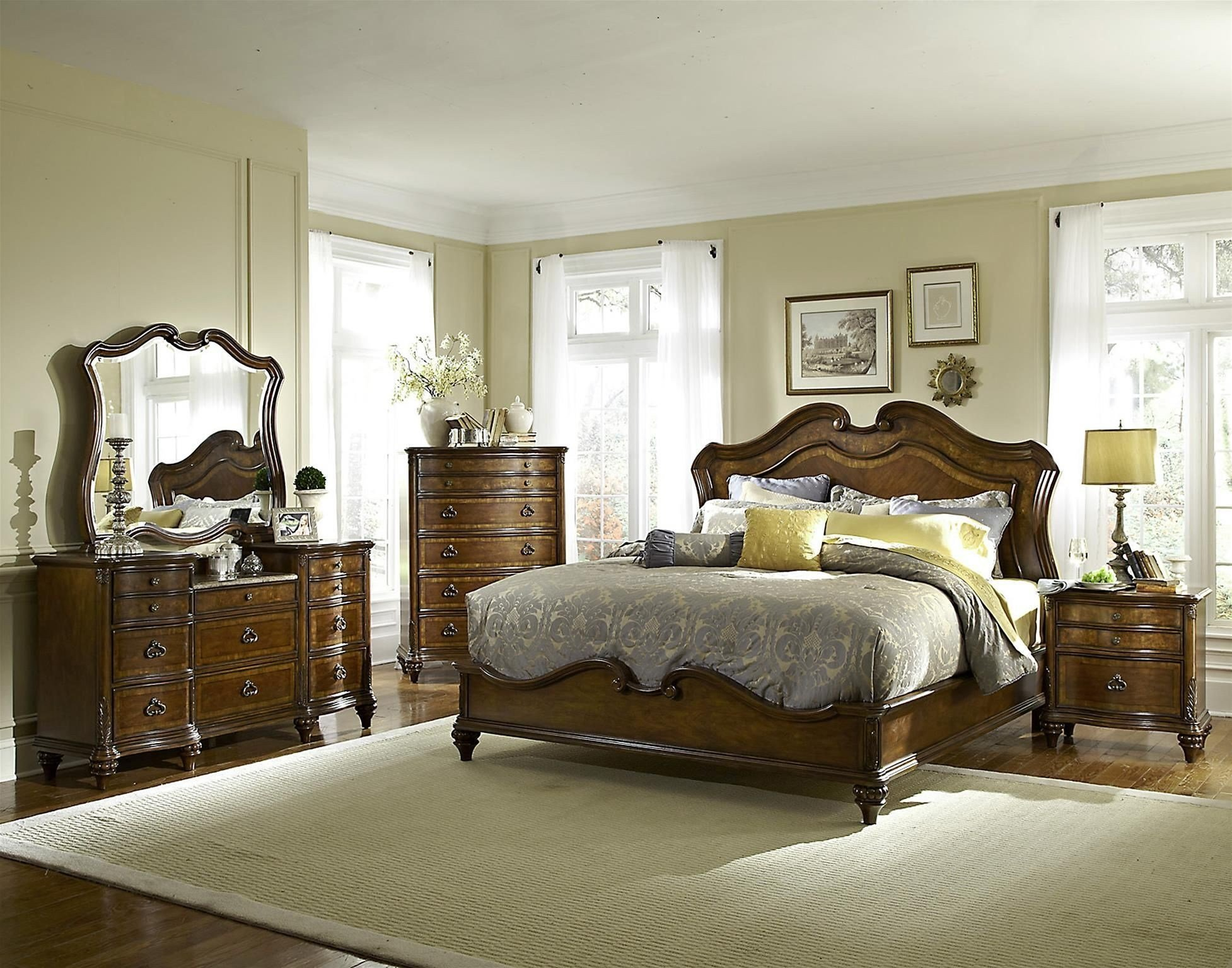 Best Marisol Brighton Cherry Panel Bedroom Set From Fairmont Designs S7057 Q Coleman Furniture With Pictures