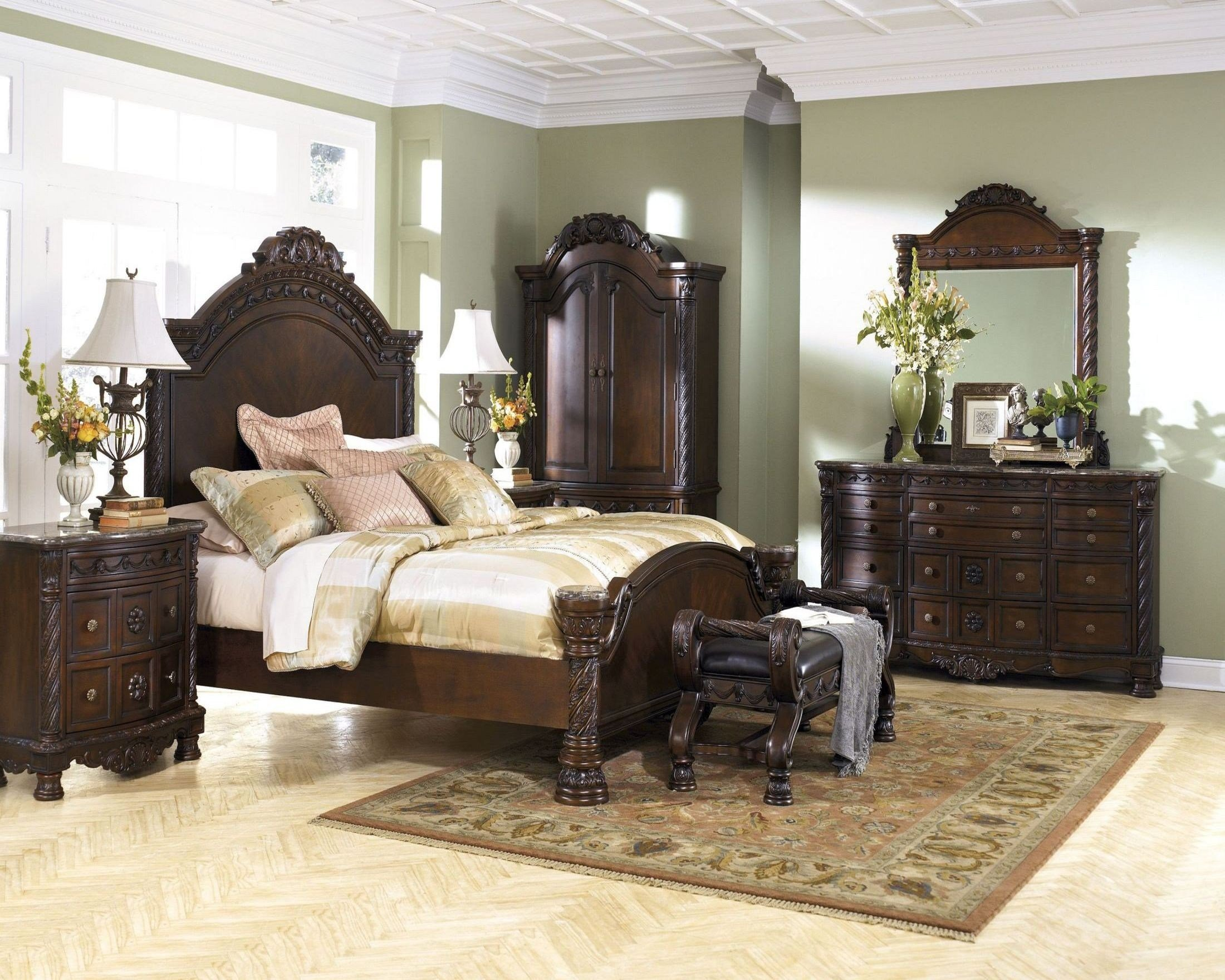 Best North Shore Panel Bedroom Set From Ashley B553 Coleman Furniture With Pictures