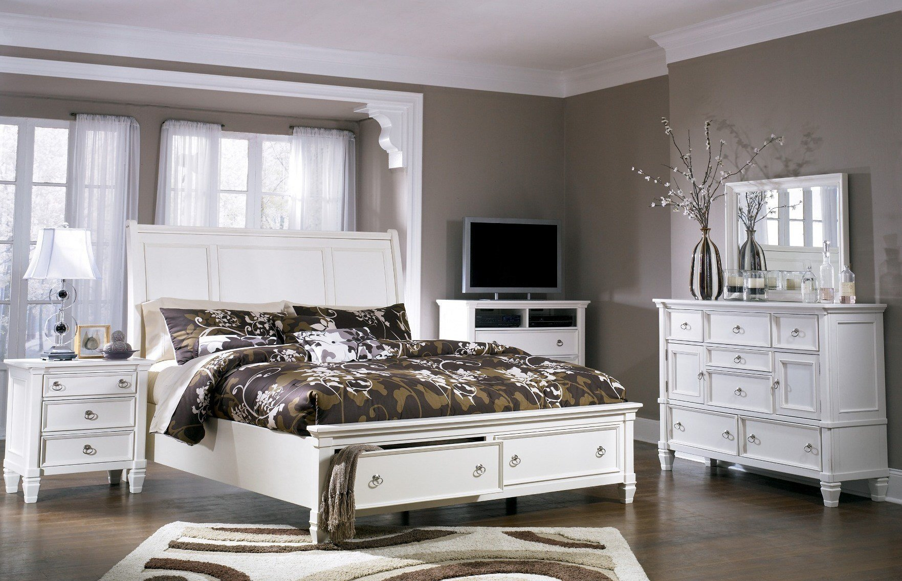 Best Prentice Storage Sleigh Bedroom Set From Ashley B672 With Pictures