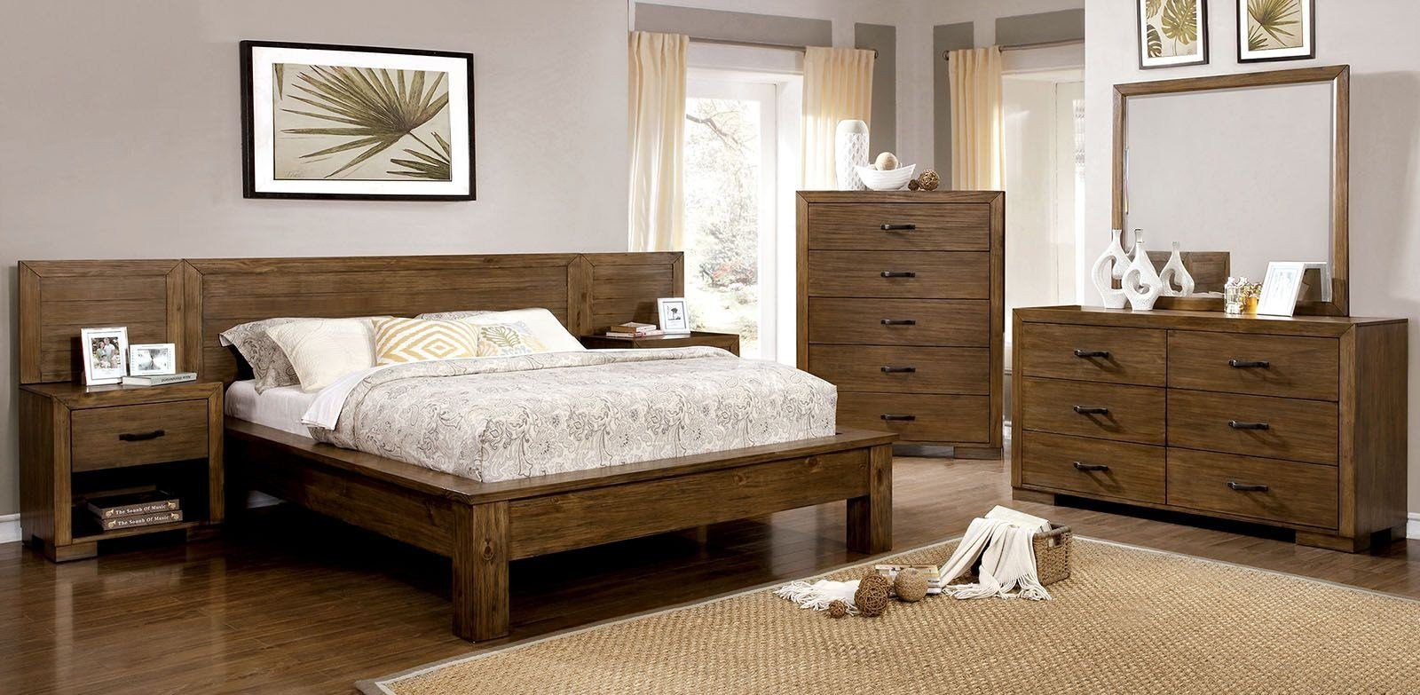 Best Bairro Reclaimed Pine Wood Bedroom Set Cm7250Q Furniture With Pictures