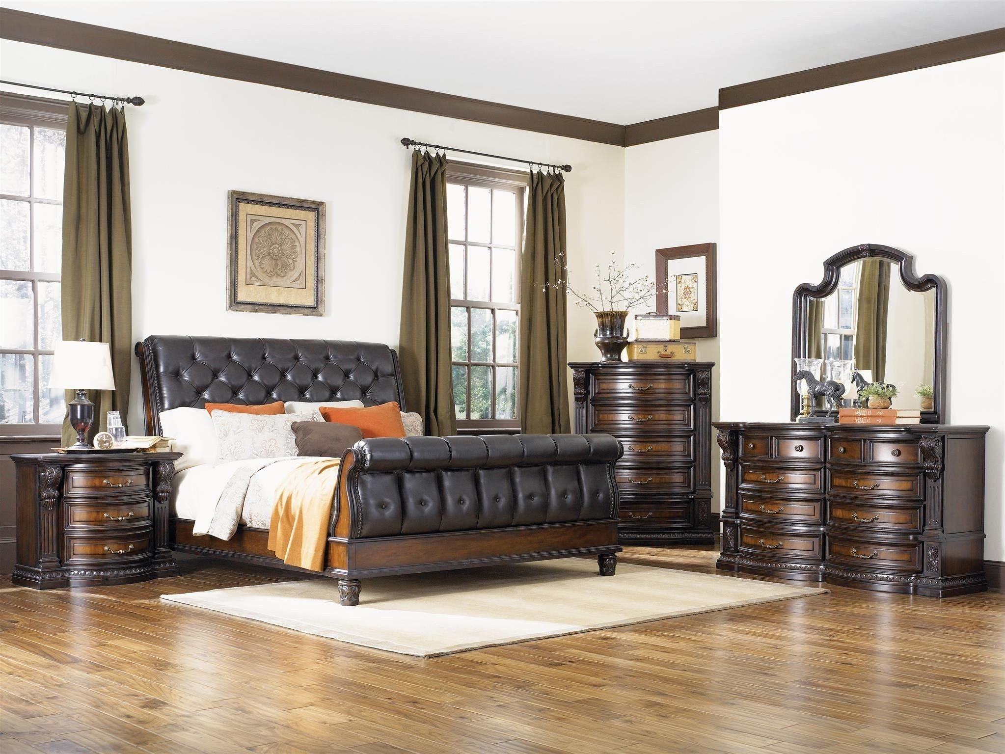 Best Grand Estates Cinnamon Sleigh Bedroom Set From Fairmont With Pictures