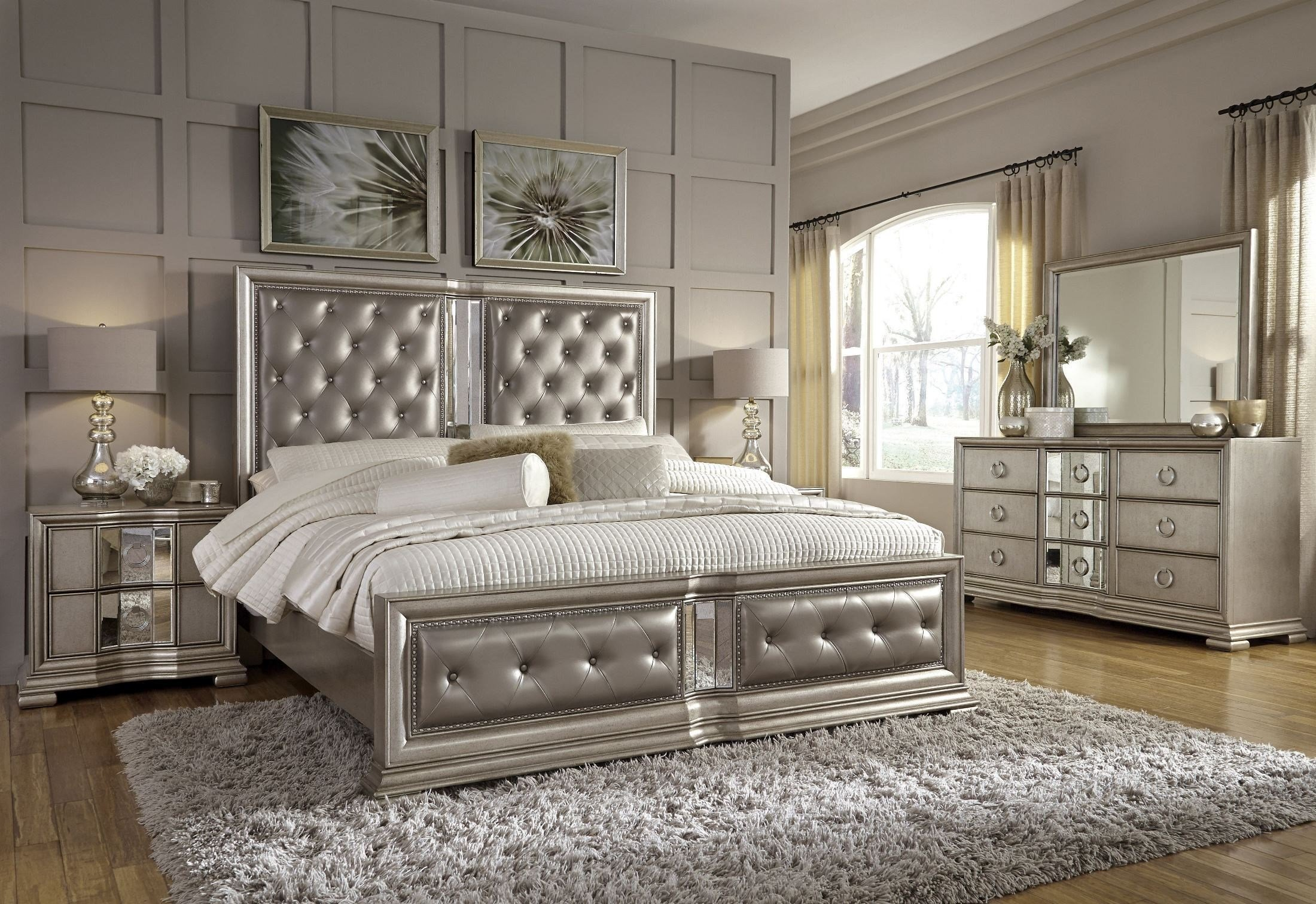 Best Couture Silver Panel Bedroom Set P022170 71 72 Pulaski With Pictures