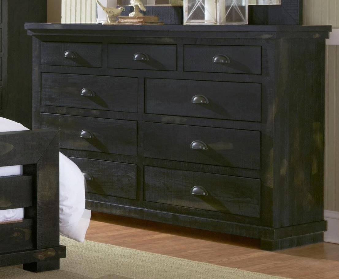 Best Willow Distressed Black Upholstered Bedroom Set P612 34 With Pictures