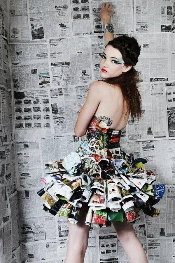 Best 20 Creative Newspaper Craft Fashion Ideas Hative With Pictures