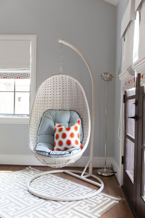 Best Hanging Chairs In Bedrooms Hanging Chairs In Kids Rooms Hgtv S Decorating Design Blog Hgtv With Pictures