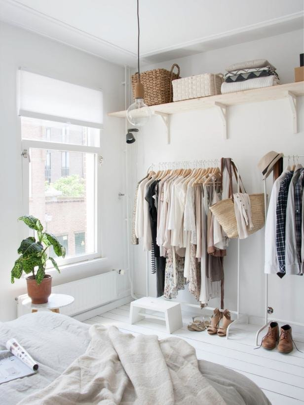Best 12 No Closet Clothes Storage Ideas Room Makeovers To With Pictures