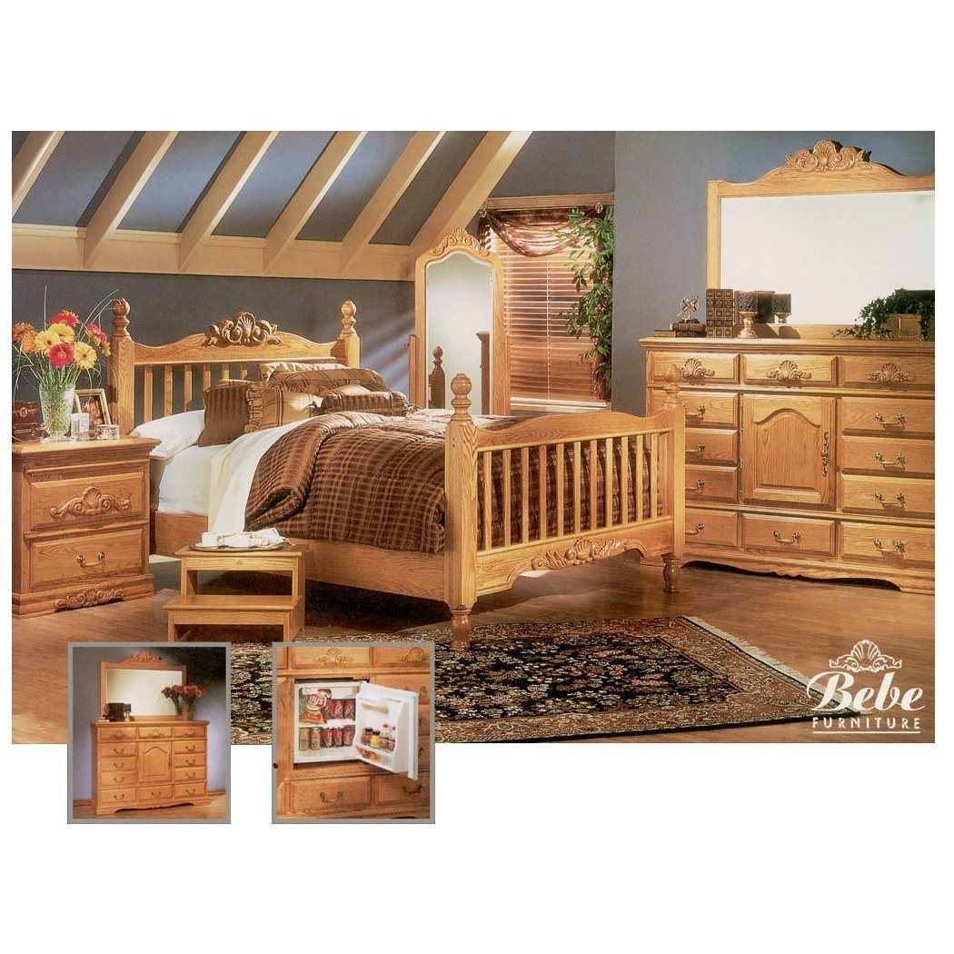 Best Bebe Furniture Country Heirloom Four Post Rake Suite With Pictures