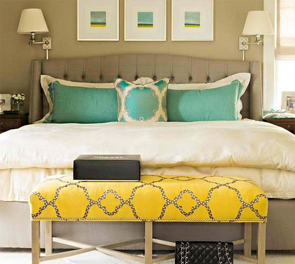 Best 15 Gorgeous Grey Turquoise And Yellow Bedroom Designs With Pictures