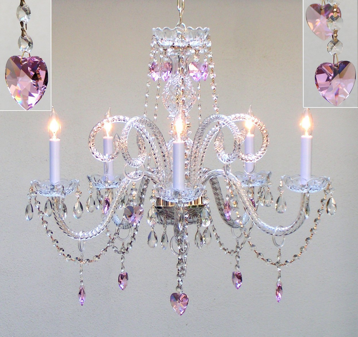 Best Pretty Pink Chandelier For Girls Room Homesfeed With Pictures