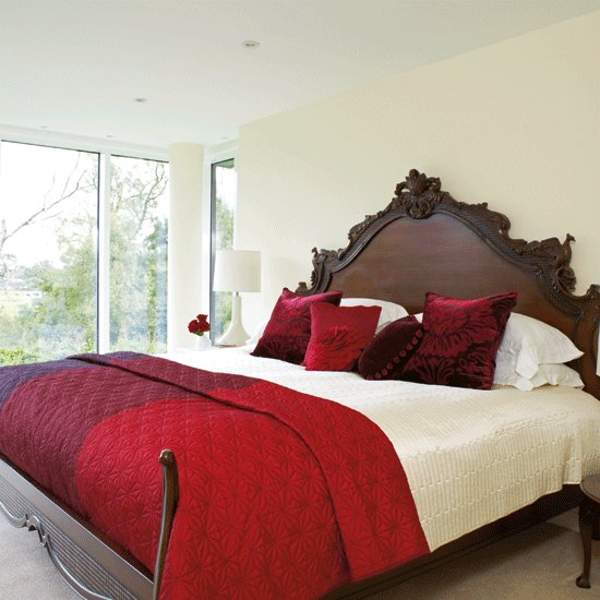 Best Stylish Red And Cream Bedroom Ruby Red Bedroom Ideas Housetohome Co Uk With Pictures
