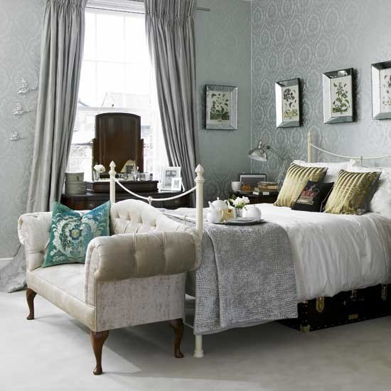 Best Damask Wallpaper Bedroom Bedroom Ideas Sofa With Pictures