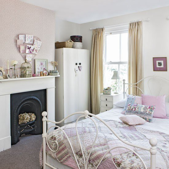 Best Pink Teenage Girl S Bedroom With Vintage Furniture With Pictures