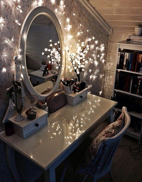Best Jewels Vanity Make Up Lights Home Decor Home Decor Bedroom Christmas Lights Peaceful With Pictures