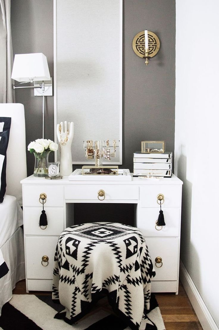 Best Furniture Add Elegance White Vanity Table That Suits Your With Pictures
