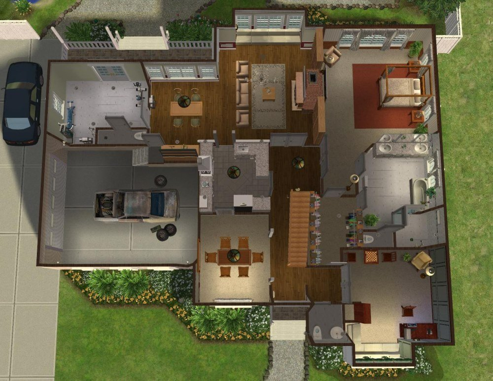 Best Mod The Sims 5 Bedroom Colonial Style House My 50Th With Pictures