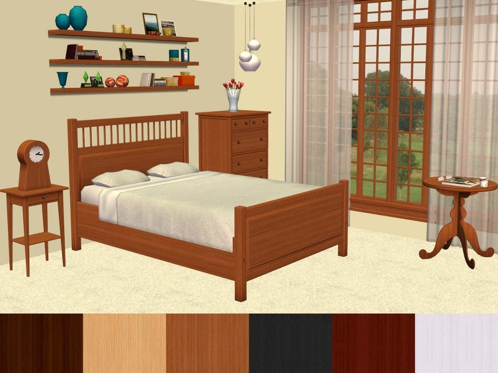 Best Mod The Sims Ikea Hemnes Bedroom Furniture Recolours With Pictures