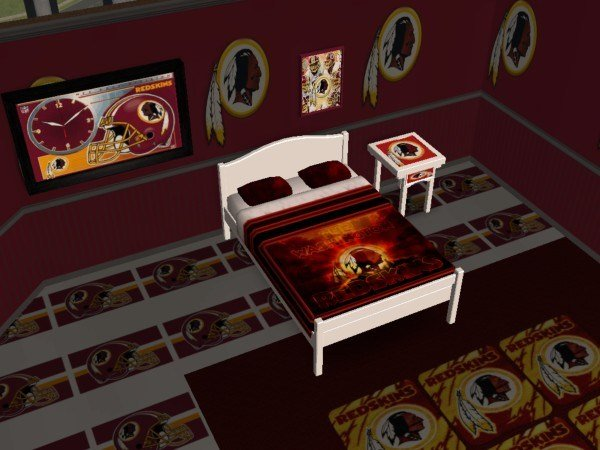 Best Mod The Sims Washington Redskins Bedroom With Pictures