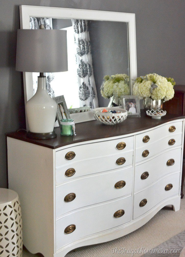 Best Painted Dresser And Mirror Makeover Master Bedroom Furniture With Pictures