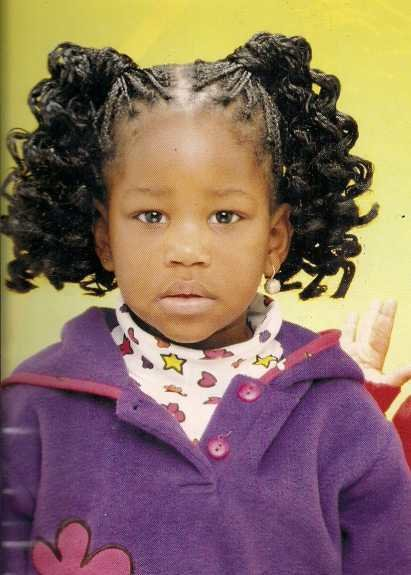 Free Curly Ponytails Hairstyle African American Little Girls Wallpaper