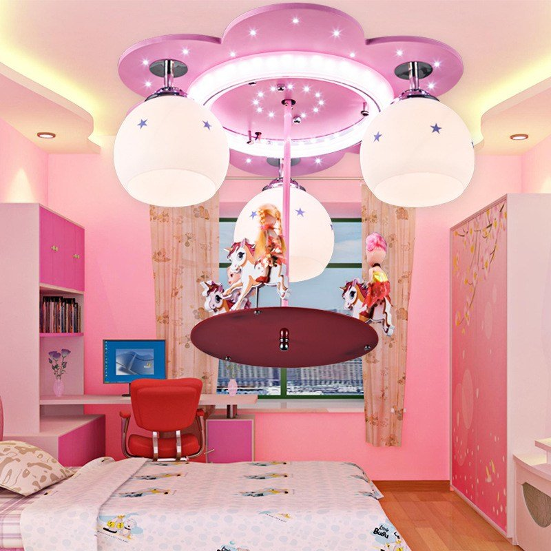 Best Feminine Pink Hanging Bedroom Ceiling Light Fixtures With Pictures