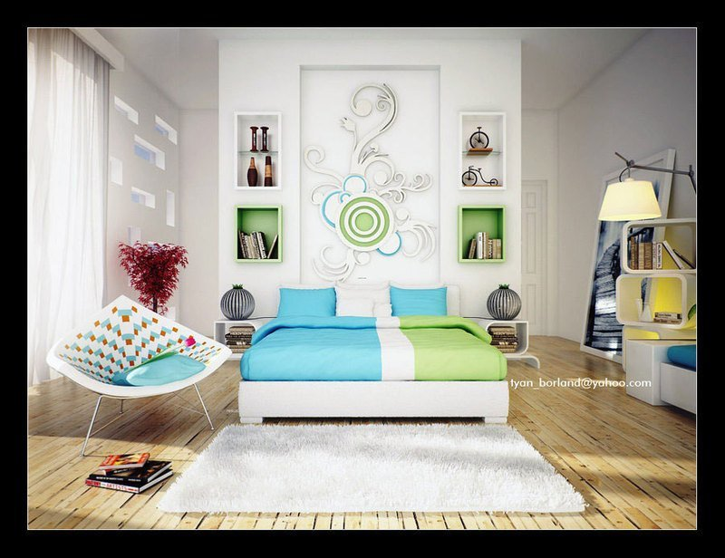 Best Green Themed Bedroom Designs Blue And Green Bedroom Design With Pictures