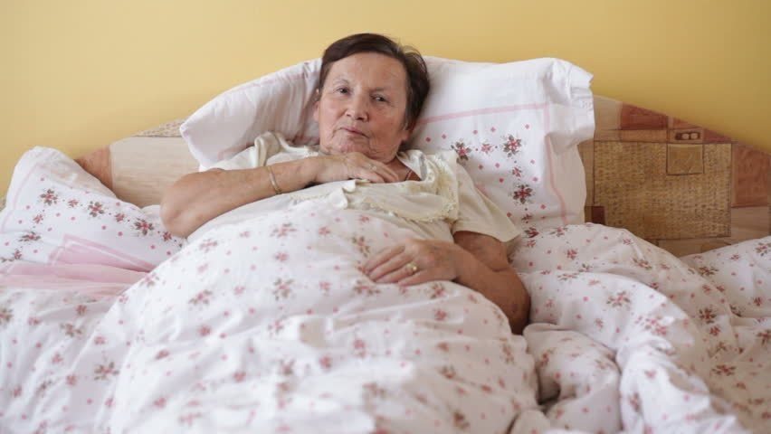 Best Ill Senior Woman Coughing In Bed Stock Footage Video With Pictures