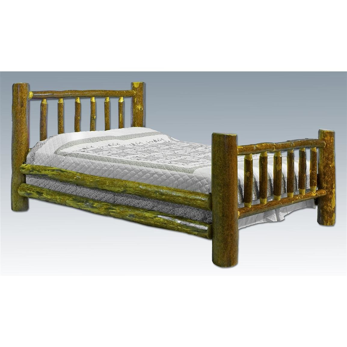Best Montana Woodworks® Glacier Country California King Log Bed With Pictures