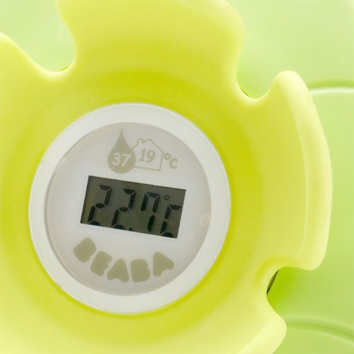 Best Beaba Digital Bath Bedroom Thermometer Orange Pink Nenuphar With Pictures