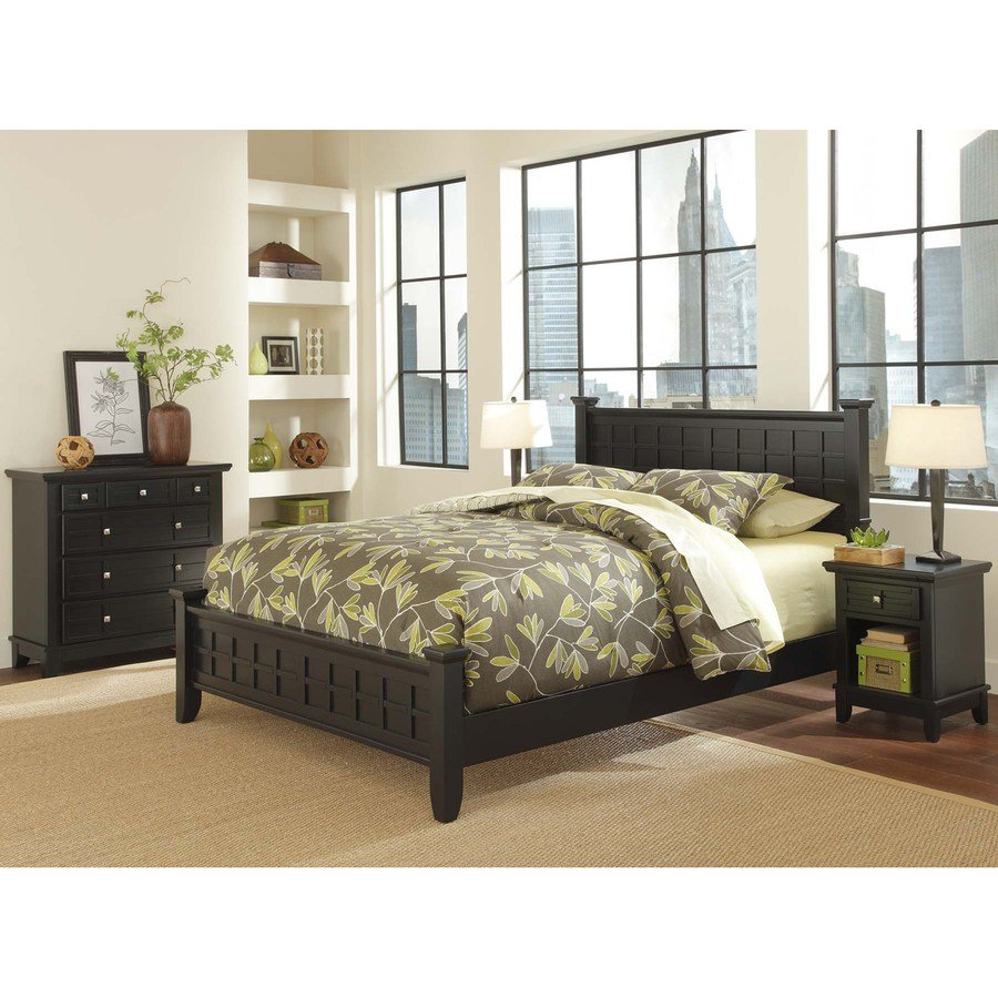 Best Shop Home Styles Arts And Crafts Black Queen Bedroom Set With Pictures