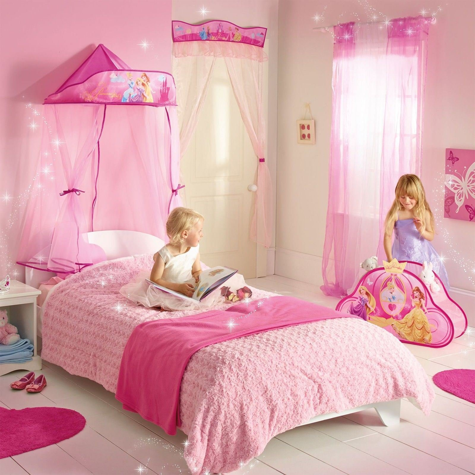 Best Disney Princess Hanging Bed Canopy New Girls Bedroom Decor With Pictures